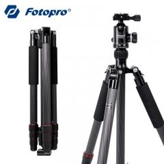 富图宝(Fotopro)E-6C 碳钎维轻便三脚架 单反相机旅行摄影便携云台套装