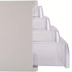 广博(GuangBo)四层桌面文件柜/档案柜/资料办公收纳柜 灰黑颜色随机 单个装WJK9265
