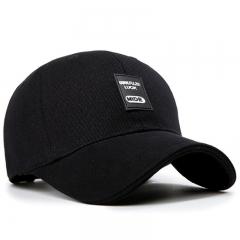 GLO-STORY 棒球帽 男女款休闲鸭舌帽运动太阳帽MMZ724035黑色