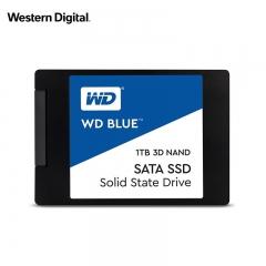 西部数据(WD)1TB SSD固态硬盘 SATA3.0接口 Blue系列-3D进阶高速读写版|五年质保