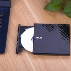华硕(ASUS) 8倍速 USB2.0 外置DVD刻录机 移动光驱 黑色(兼容苹果系统/SDRW-08D2S-U)