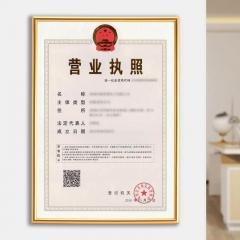 FOOJO 新版营业执照框 相框照片墙 工商税务登记证横竖证件画框证书框 金色A4