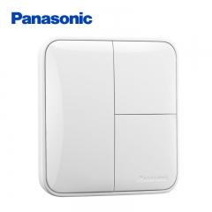 松下( Panasonic)开关插座面板 三开单控开关面板 3开单控墙壁开关 格彩系列86型 WPC505 白色