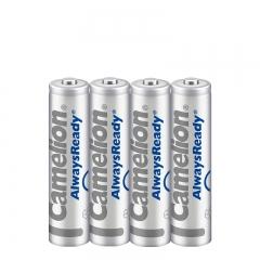 飞狮(Camelion)低自放镍氢充电电池 7号/七号/AAA 800毫安时4节 鼠标/键盘/遥控器/手电筒