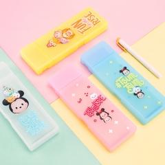 广博(GuangBo)透明笔盒/卡通文具盒/学习用品 迪士尼/颜色随机 单个装ITT35201