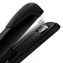 得力(deli)钢制耐用办公订书机套装(订书器+起钉器+订书钉) 适配12#钉 办公用品 黑色0359