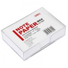 得力(deli)147×101mm带盒便签纸/便条纸/便签本 7602-W