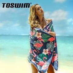 拓胜(TOSWIM)游泳毛巾 运动吸水巾 成人温泉沙滩浴巾 旅游速干巾 变色烈鸟