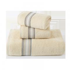 孚日洁玉纯棉毛巾浴巾套装 纯棉吸水成人情侣男女家用毛浴巾 毛巾*2+浴巾*1 棕色