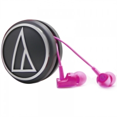 铁三角 CLR100 入耳式运动耳机 粉红色 手机耳麦 立体声耳机