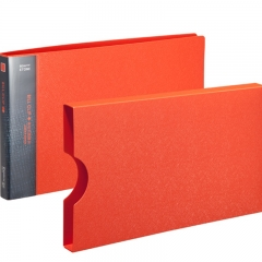 齐心(Comix) A611 美石系财务增值税发票夹/票据夹/单据文件夹 配外壳 橘红