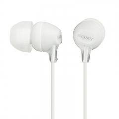 索尼(SONY) MDR-EX15AP 入耳式智能手机通话耳机, 兼容多种智能手机 白色