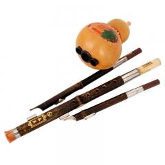 乐灵 三音紫竹杆葫芦丝降B调带教材