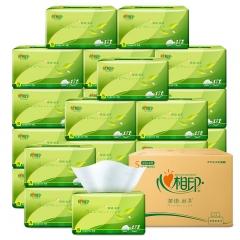 心相印抽纸 茶语丝享系列3层150抽面巾纸*24包纸巾(小规格整箱销售)