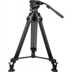 耐思得(NEST)NT-670专业摄像机三脚架单反三脚架摄像液压阻尼云台三角架承重20KG 【 NT-670 】碗口转平口云台