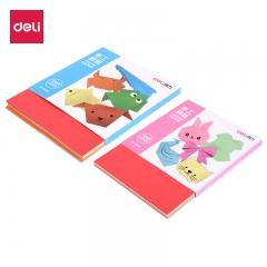 得力(deli)100张幼儿趣味手工折纸 小学生益智玩具剪纸10色150*150mm74814