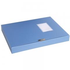 得力(deli)5622  大容量PP材质档案盒A4(蓝) 35mm单只装