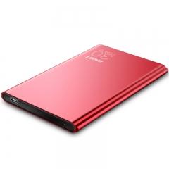 忆捷(EAGET)1TB Type-c USB3.1移动硬盘G70 2.5英寸9.9毫米超薄全金属红色