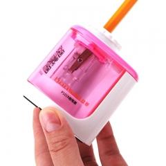 盆景(bonsaii) P101R 电动削笔器 儿童卷笔刀 自动削铅笔 学生转笔刀 电动笔刨(红色)