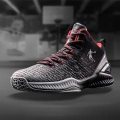 乔丹 男鞋篮球鞋实战减震运动耐磨篮球鞋 XM1580103 黑色/新乔丹红 44