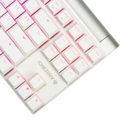 樱桃(CHERRY)MX8.0 G80-3888HXAEU-0 机械键盘 有线键盘 游戏键盘 87键RGB背光  白色 樱桃茶轴