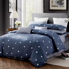 南极人NanJiren 纯棉四件套 全棉双人1.5/1.8米床上用品 被套200*230cm床单枕套 思绪