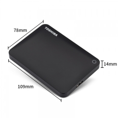 东芝(TOSHIBA) 1TB USB3.0 移动硬盘 V9系列 2.5英寸 兼容Mac 轻薄便携 密码保护 轻松备份 高速传输 经典黑