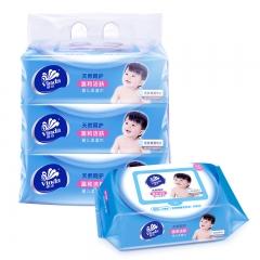 维达(Vinda)婴儿柔湿巾纸巾 婴儿护肤 80片装*3包(新旧产品交替发货)