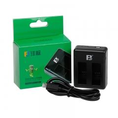 沣标(FB) AHDBT-501 双槽座充 For Gopro5运动相机电池 hero5 black黑狗5电池充电器