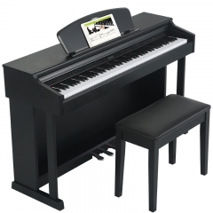 华星电钢琴88键重锤成人儿童专业智能数码立式电子钢琴初学者电子琴钢琴H7黑色