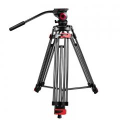 miliboo米泊MTT602A摄像机三脚架 广播级单反相机三角架 含液压云台套装