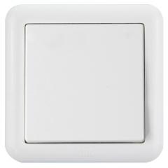 ABB开关插座面板 一开单控单开单控开关 德静系列 白色 AJ101