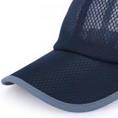 GLO-STORY 棒球帽 透气运动网帽男女款户外鸭舌帽MMZ724037藏青色