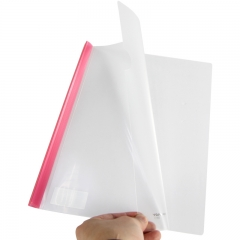 金得利(KINARY) Q310 A4透明抽杆文件夹报告夹 5个配色装