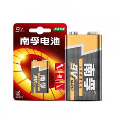 南孚(NANFU)9V碱性电池1粒装 适用于遥控玩具/烟雾报警器/无线麦克风/万用表/话筒/遥控器等 6LR61