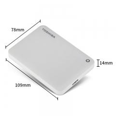 东芝(TOSHIBA) 1TB USB3.0 移动硬盘 V9系列 2.5英寸 兼容Mac 轻薄便携 密码保护 轻松备份 高速传输 清新白