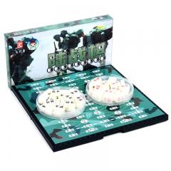 先行者军棋军旗磁石陆战棋玩具桌游G-5 棋类玩具桌面游戏棋折叠棋盘棋牌 磁性棋子便携式