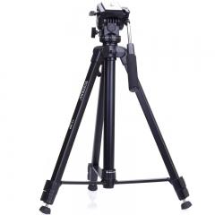 云腾(YUNTENG)三脚架VT-7008专业大型三脚架云台套装 微单数码单反相机摄像机用 优质铝合金三角架黑色