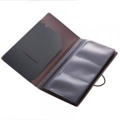 齐心(Comix) A7628 30枚便携式名片册/卡片册Germini系列 深灰色