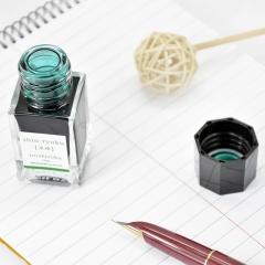 日本百乐(PILOT)钢笔墨水彩墨 深绿 15ml INK-15-SHR原装进口