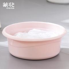 茶花 塑料盆洗脸盆33CM时尚通用盆 03371K