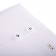 得力(deli)12只A4加厚防水淋文件袋资料袋档案袋 绑带式票据收纳袋 5511