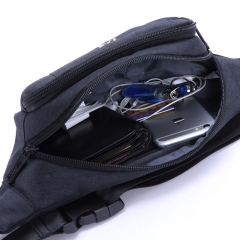 维多利亚旅行者 VICTORIATOURIST 男士腰包胸包 男女休闲包V5009炭黑色