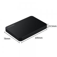 东芝(TOSHIBA) 4TB USB3.0 移动硬盘 新小黑A3 2.5英寸 兼容Mac 超大容量 轻松备份 高速传输 爆款 商务黑