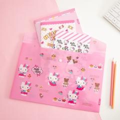 广博(GuangBo)6只装A4按扣文件袋/资料袋 凯蒂猫随机KT88043
