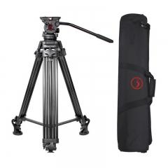 耐思得(NEST)NT-660专业摄像机三脚架单反三脚架摄像三脚架液压阻尼云台三角架承重20KG