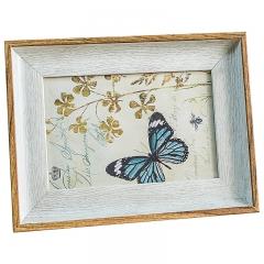 花间集 相框 6寸PS树脂相框 北欧风相框 白木色 植绒背板 横竖摆挂四用
