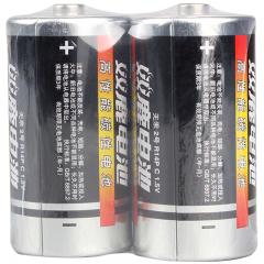 双鹿2号碳性干电池 适用于手电筒/录音机/收音机/遥控器/玩具 2号/中号/C型/R14P 2粒缩装