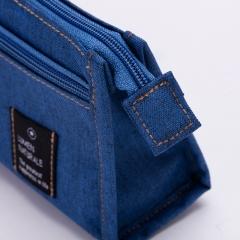 得力(deli)多功能大容量笔袋多层铅笔收纳袋 颜色随机66709