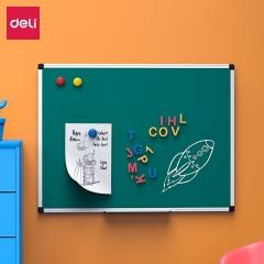 得力(deli)60*45cm实心纤维板芯绿板 白板 磁性办公教学会议小白板悬挂式写字板黑板白板 绿板33681